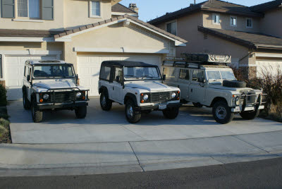 My first three Land Rovers