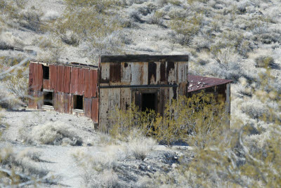 Building in Leadfield along the Titus Canyon Rd
