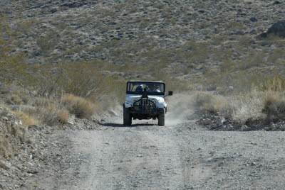 Jeep along the Titus Canyon Road