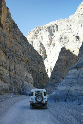 This is why Titus Canyon Road is one way