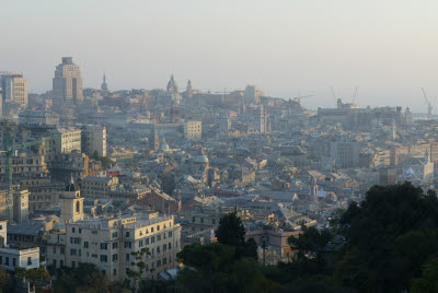 City Scape of Genoa