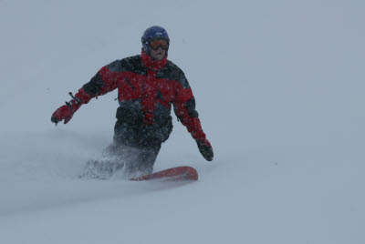 Joe Snowboarding in Bormio