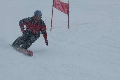 Joe Boarding in Bormio