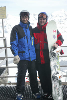 Mark and Joe in Bormio