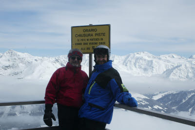 Albert and Mark at Peak in Bormio