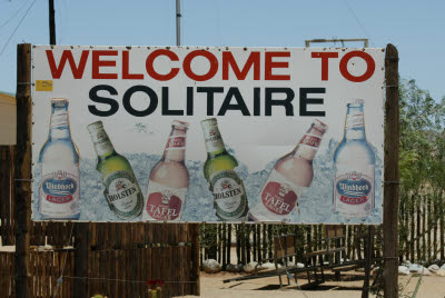 Solitaire Welcome Sign