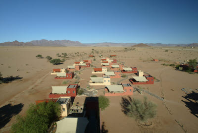 Shot of Sossusvlei Lodge from Water Tower