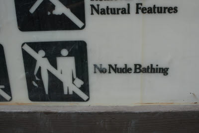 No Nude Bathing - Rules are made to be broken