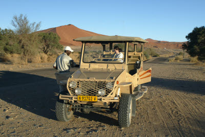 Tour Guide and Dune Buggy