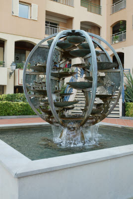 Interesting Globe Water Fountain