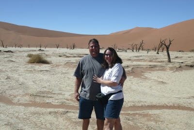 Lisa and Bill at Deadvlei