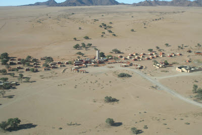 Aerial view of Sossusvlei Lodge
