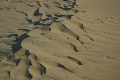 Aerial View of Dunes between Sossusvlei and the Ocean