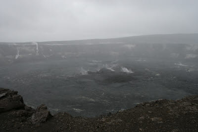 Halemaumau Crater under Cloud Cover