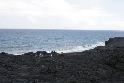Family on the Trail to Lava Flows