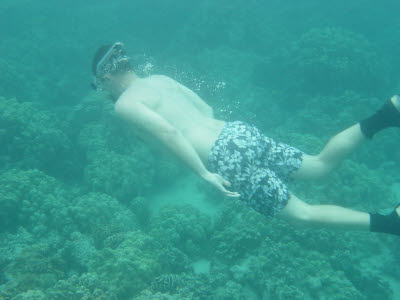 Mark Snorkeling in Hawaii