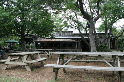 Gristmill restaurant along the Guadalupe River in Gruene, Texas
