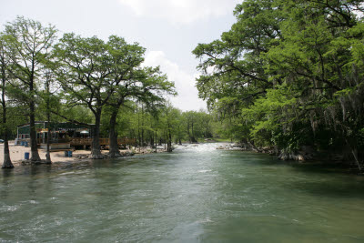 Guadalupe River as it passes through Gruene, Texas