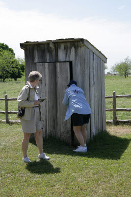 Investigating the outhouse