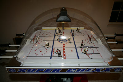 Chexx Bubble Hockey with Blackhawks vs. Bruins