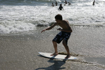 Alex Skimboarding at Huntington Beach