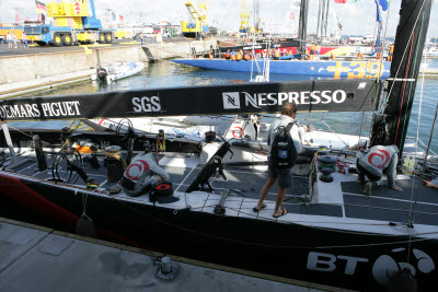 Alinghi Preparing for Racing