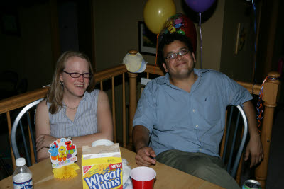 Nick and Suzanne at Gunnar's birthday party