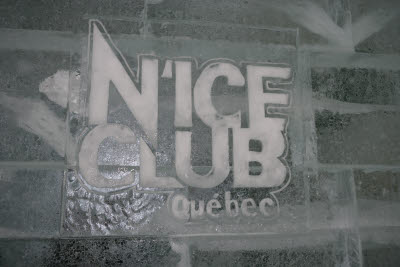 Nice Club at the Ice Hotel