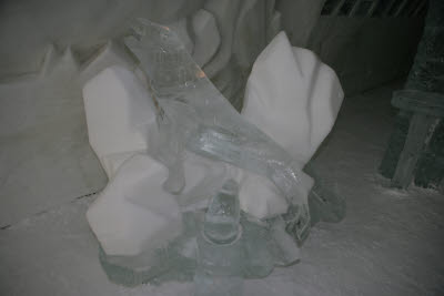 Ice Sculpture in the Ice Hotel