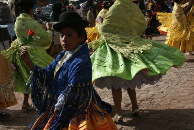Christmas Day festival in Pucara, Peru