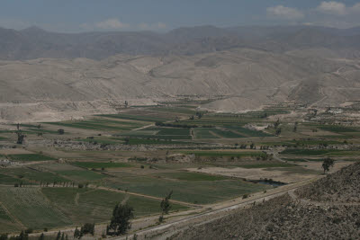 Farms near Arequipa, Peru