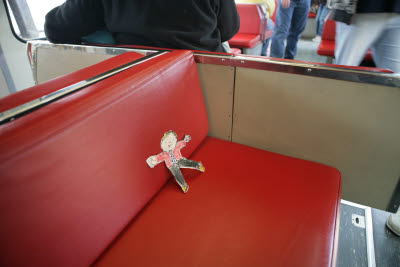Flat Stanley Rides the Monorail