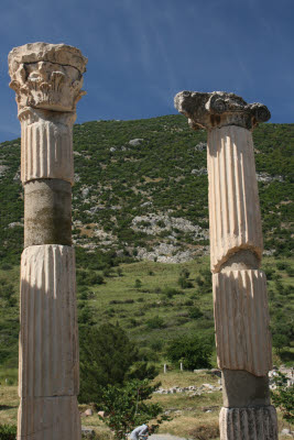Marble columns at Ephesus, Turkey