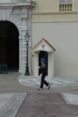 Guard at Monoco Palace