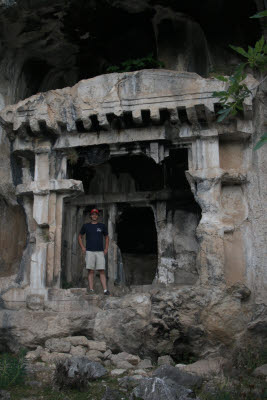 Ancient Lycian rock tombs of Pinara, Turkey