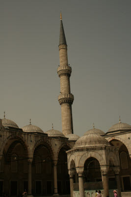 Minaret and Ablutions Fountain, Blue Mosque (Sultan Ahmet)