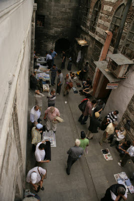 Swapmeet in a back-alley, Istanbul, Turkey
