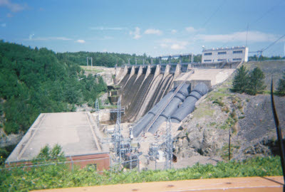 Dam on the Kennebec River