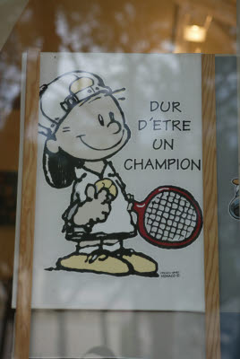 Screen Print from Monaco Tennis Tournament