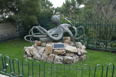 Octopus in Garden near Monaco Acquarium