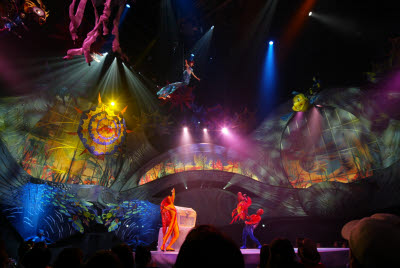 Stage show at Disney Sea