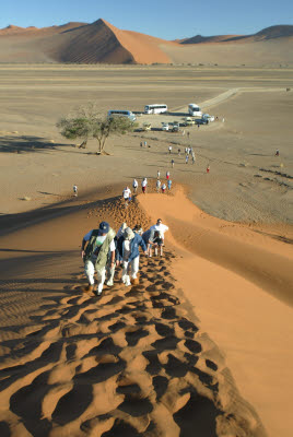 Tourist flock to dune 45