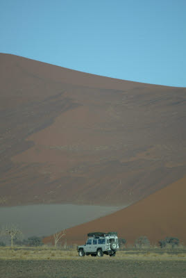 This is Namibia - A defender and a dune