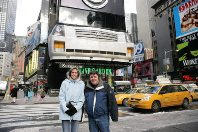 Michele and John in Times Square