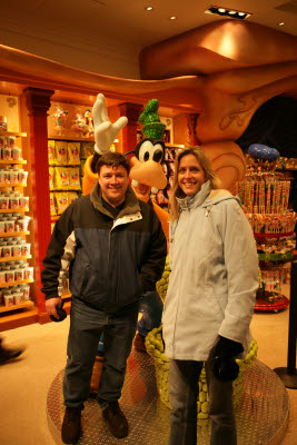 Michele and John in the Disney store on 5th Avenue