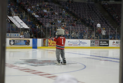 Rowdy the Albany River Rat's Mascot