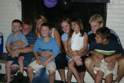 Dee's Grandkids at her Birthday Party