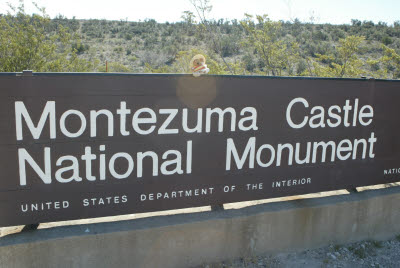 Mucho Mustacheo on the Montezuma Castle National Monument Sign